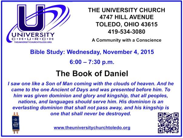 November 4 2015 Bible Study
