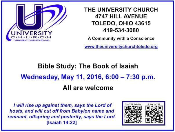May 11 2016 Bible Study