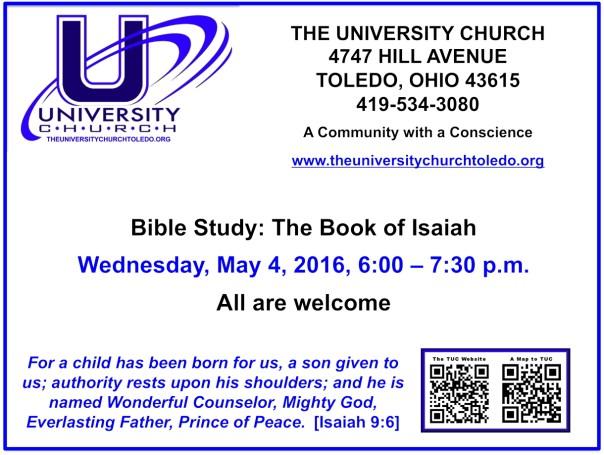 May 4 2016 Bible Study