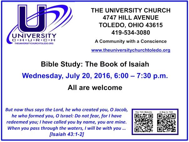 July 20 2016 Bible Study