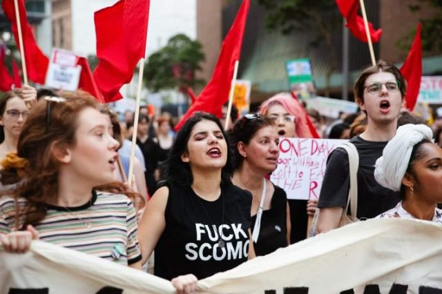 Australia Marxists march in sydney