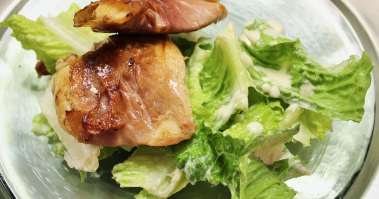 Prosciutto-Wrapped Chicken Caesar Salad – AIP, Paleo, Whole 30, Low-FODMAP