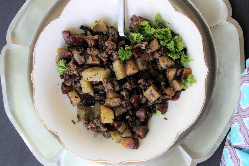 chayote-cucumber-sausage-hash-5