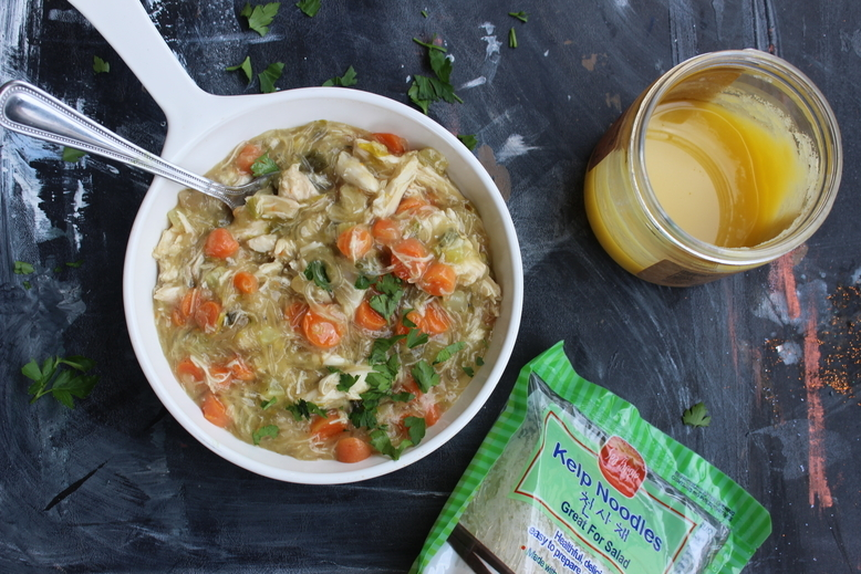Comfort Chicken Noodles paleo whole 30 aip