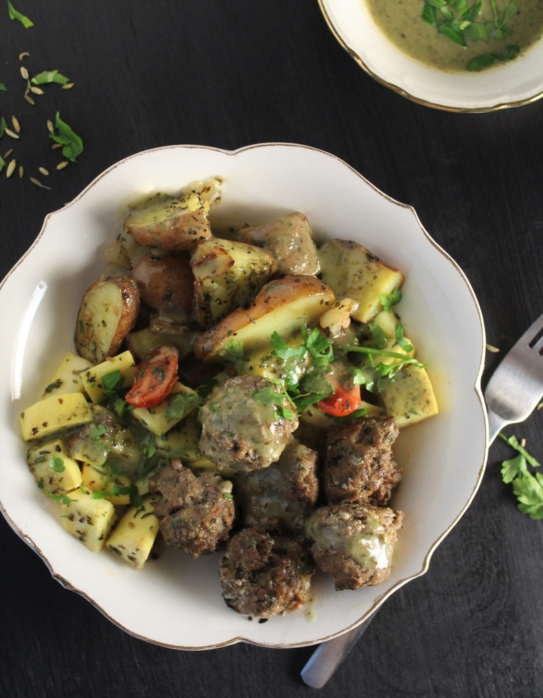 Italian Meatballs Buddha Bowl – Whole 30, AIP