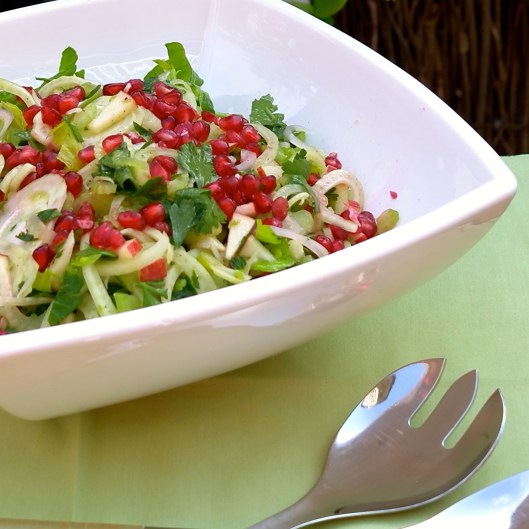 fennel celery pomegranate salad AIP