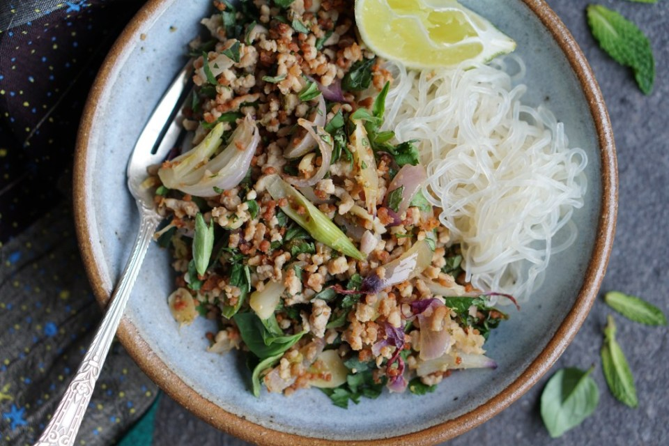 thai pork salad AIP
