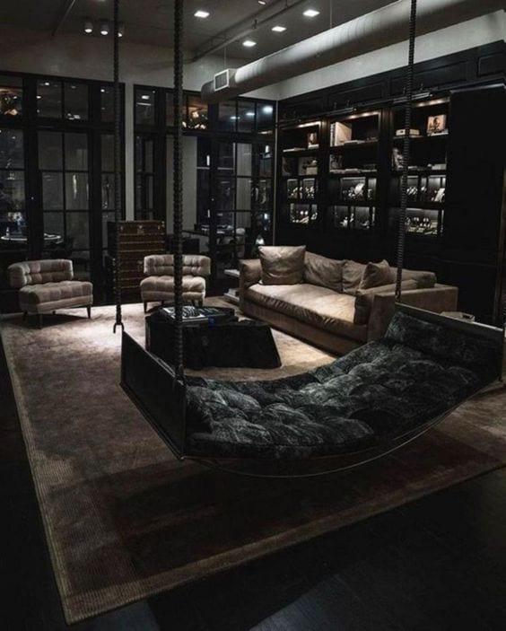 All black living room decor ideas