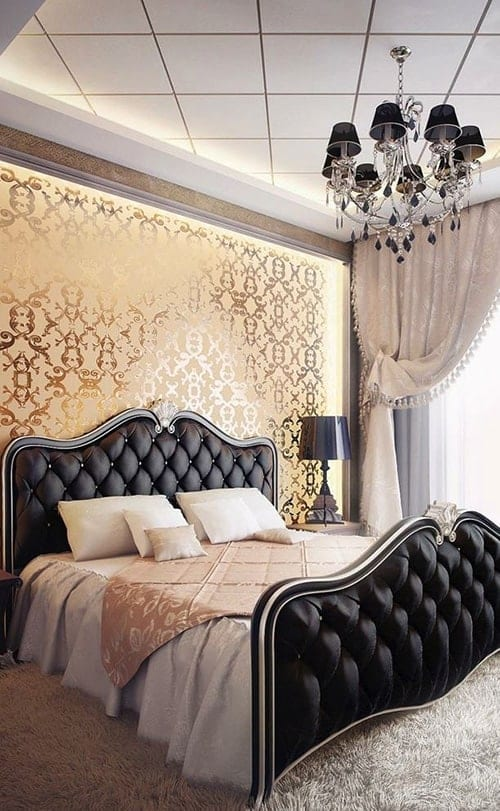 Black & Gold master bedroom ideas