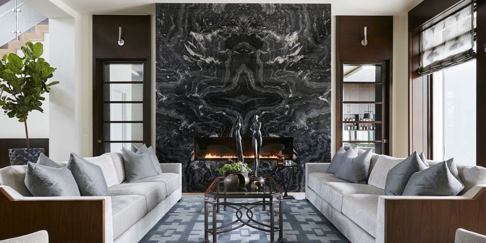 Black marble fireplace decor ideas