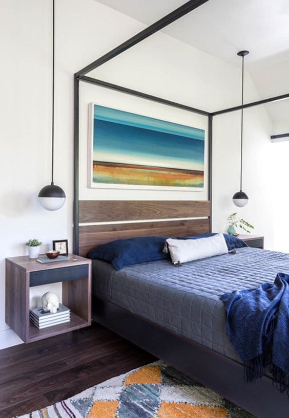 Colorful bedroom ideas for men