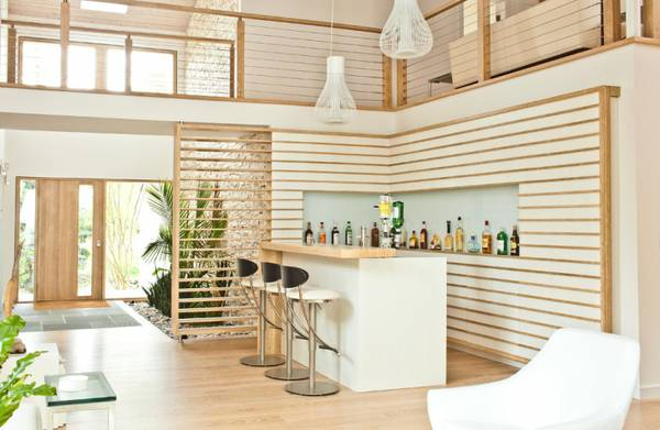 Elegant White Home Bar Design ideas