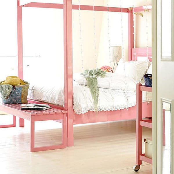 Feminine Bedroom pink bed design ideas