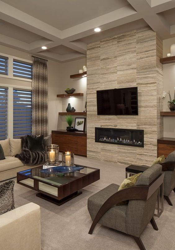 Fireplace decor ideas in lavish apartments