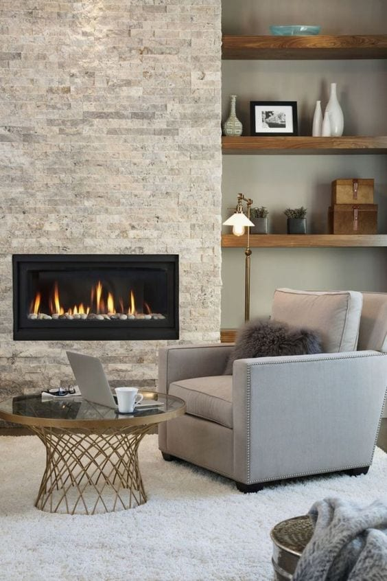 Fireplace decor ideas in luxurious house