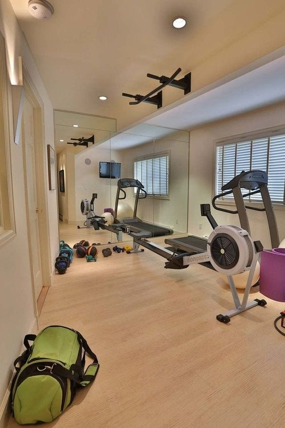 Gym in the Basement Space design ideas