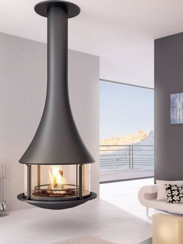 Hanging fireplace decor ideas