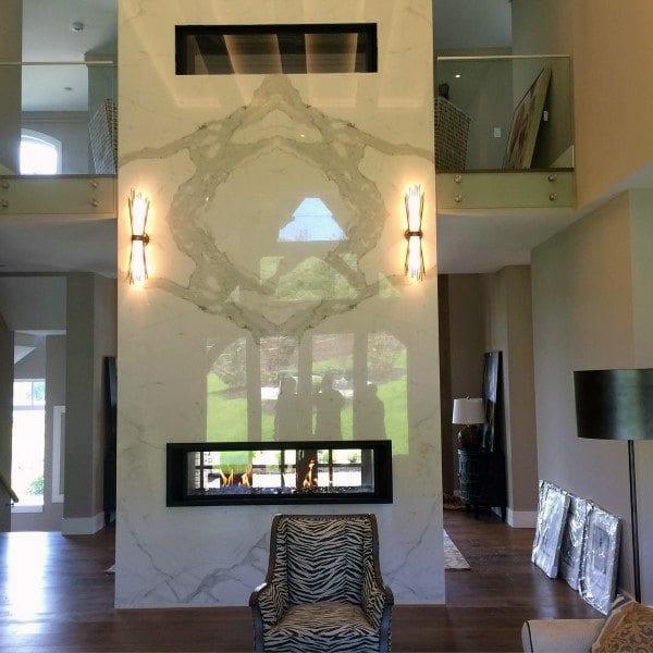 Mettalic fireplace decor ideas