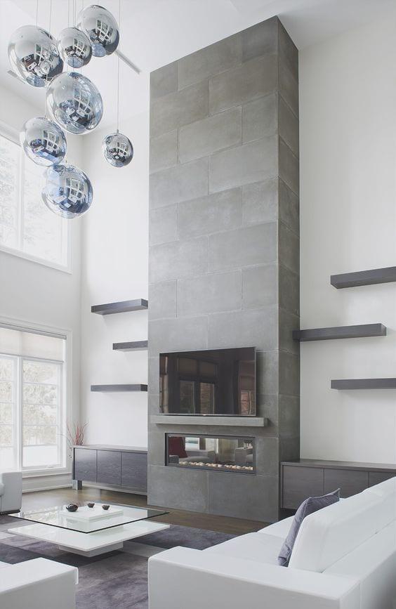 Minimal fireplace decor ideas