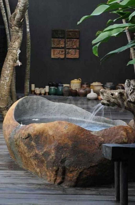 Natural Stone Bathtub Ideas
