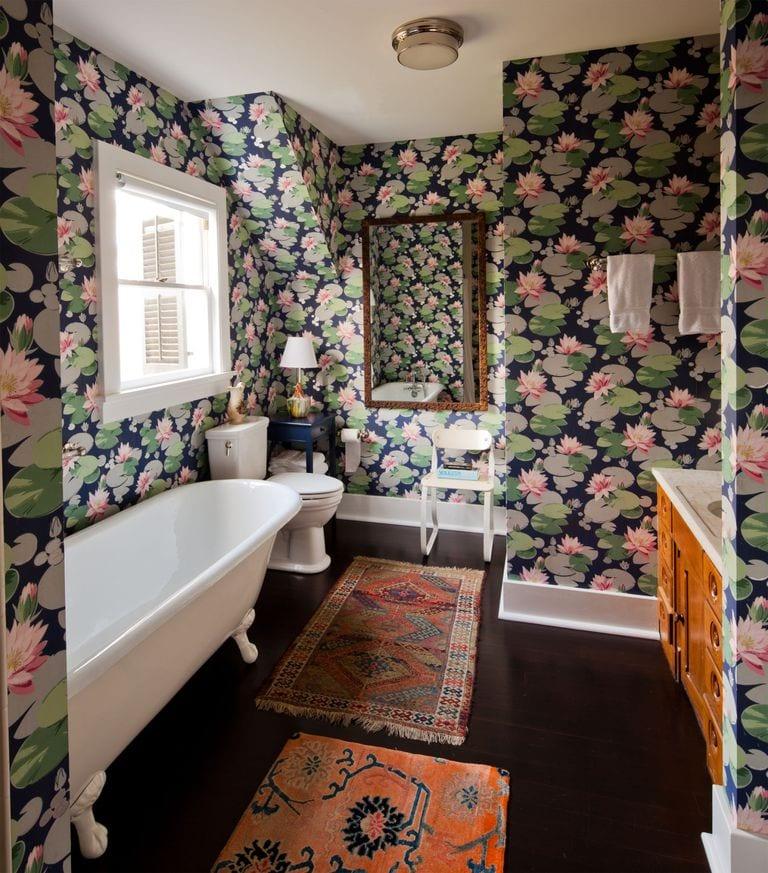 Patterned bathtub design ideas