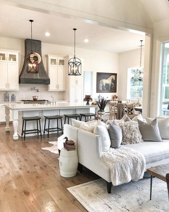 Stylish open kitchen living room ideas