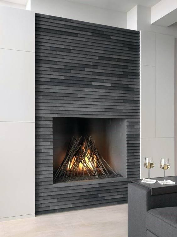 Traditional way in modern house fireplace decor ideas