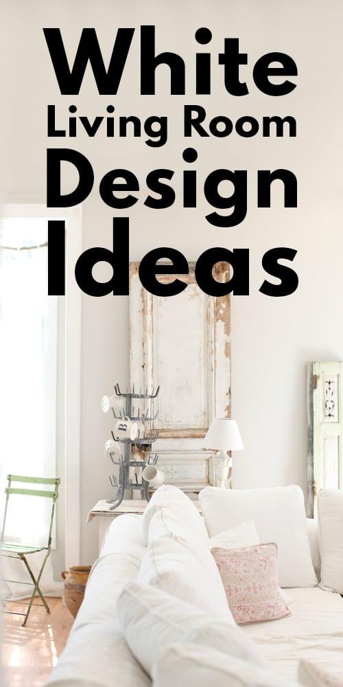 23 All White Living Room Design Ideas!