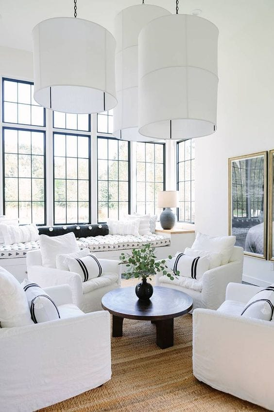 All white living room decoration ideas in 2019