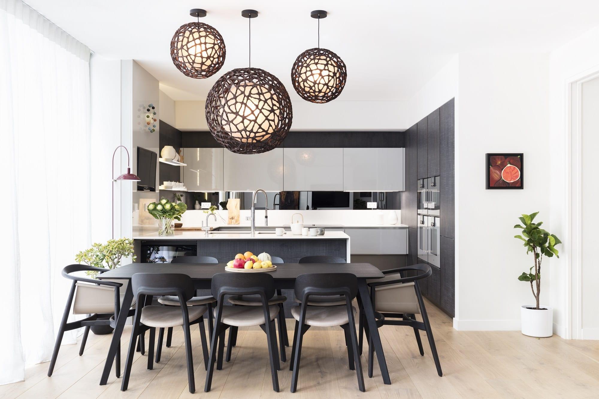 Black And Milk Dining Room Decor ideas