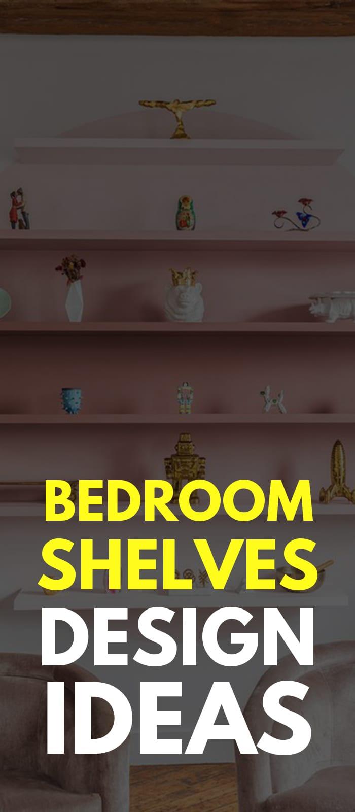 Circular bedroom shelves.