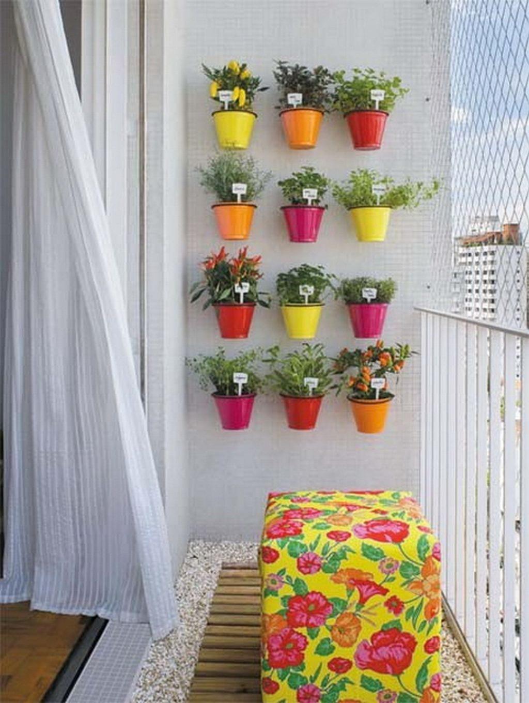 Colorful Hanging Balcony Garden Ideas
