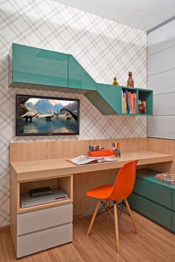 Colorful study room designs