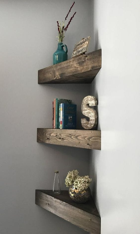 Corner Floating Shelves design ideas