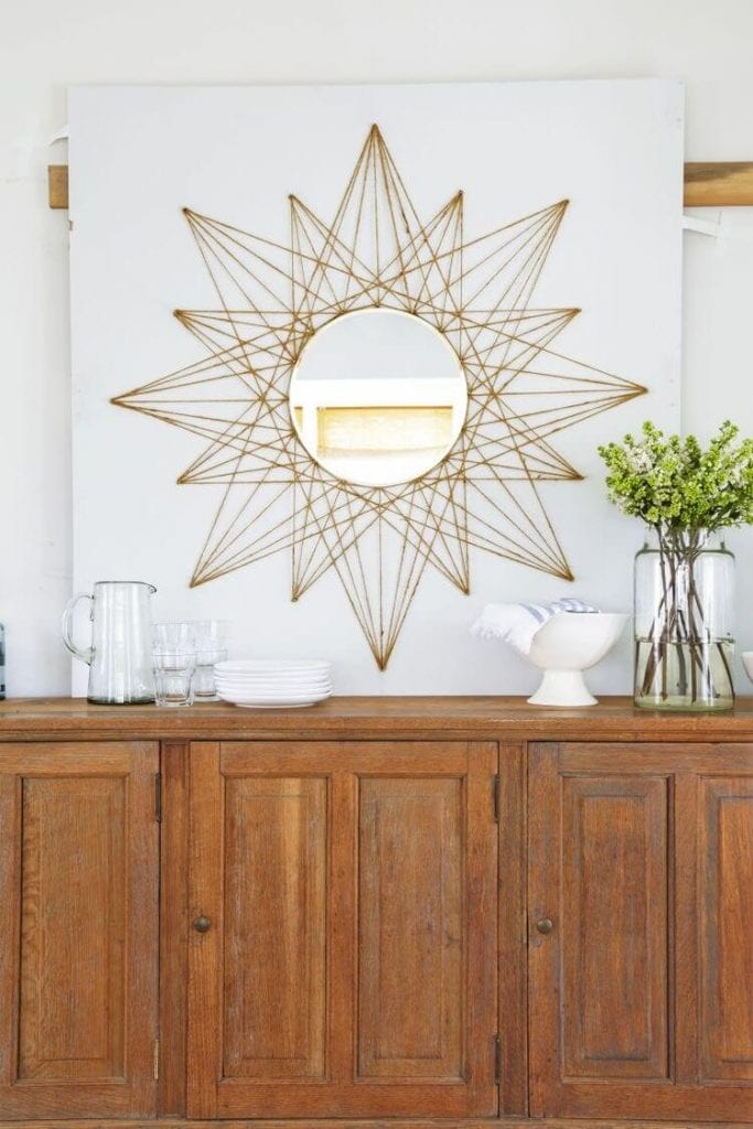 DIY Rope Star Mirror design ideas