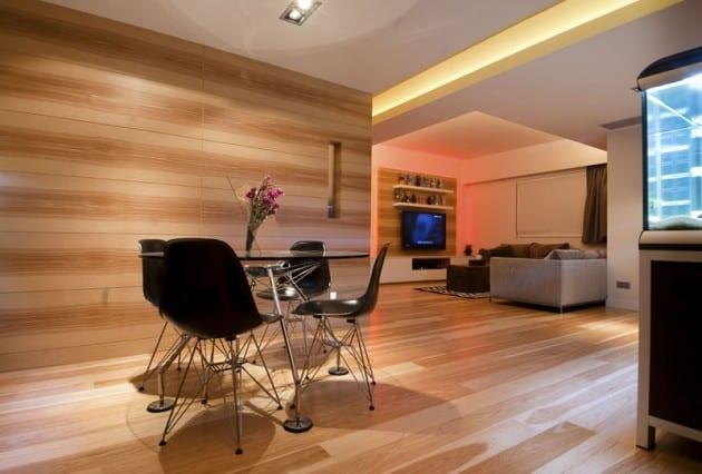 Dinning table in minimal living room decor ideas