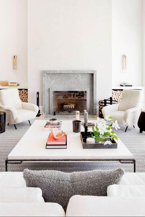 Gray minimal interior ideas for living room