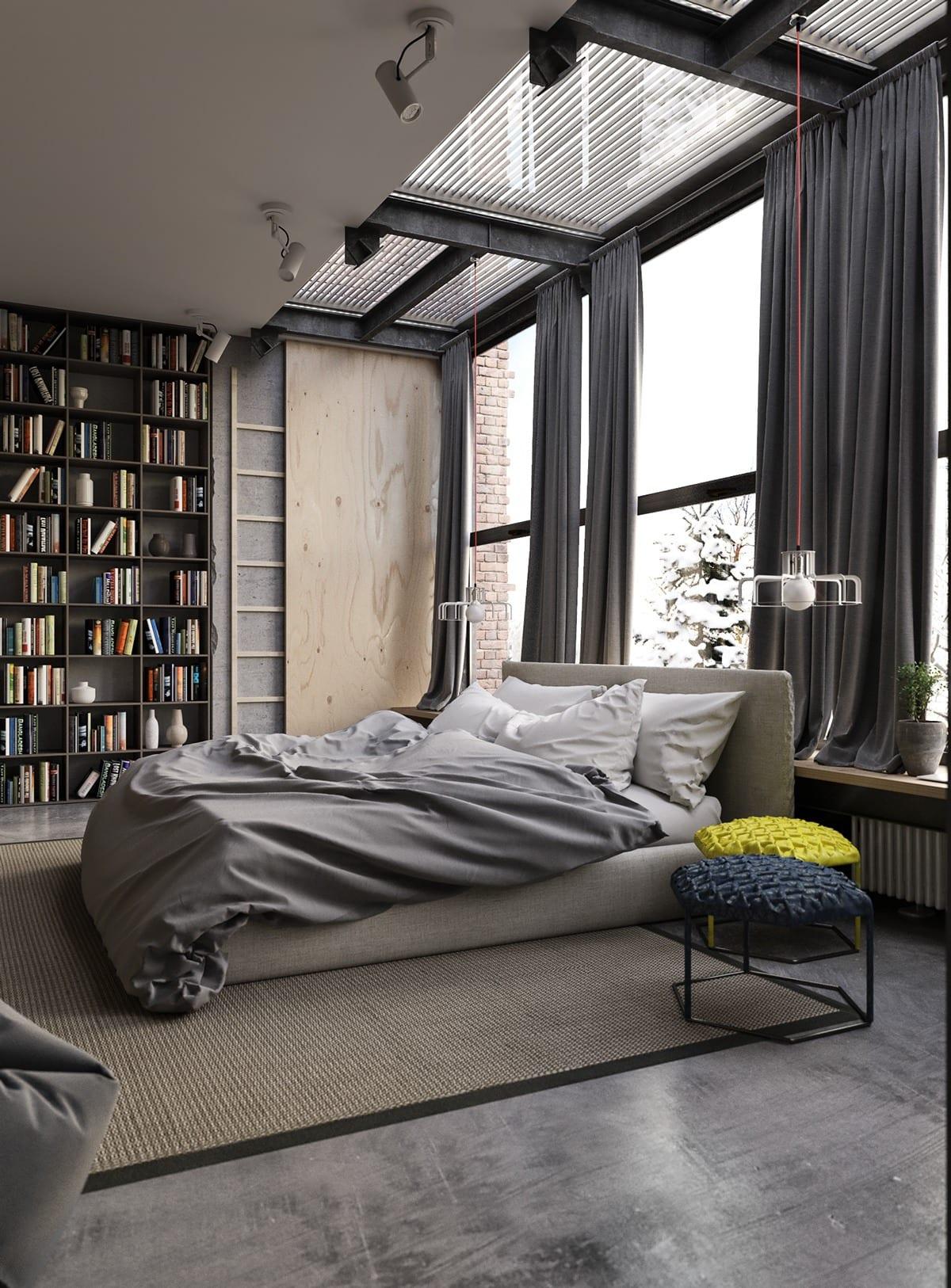 Home Library Cozy Bedroom Ideas