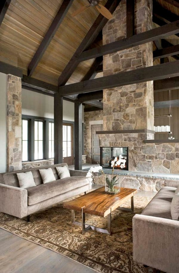 Lavish rustic living room decor ideas