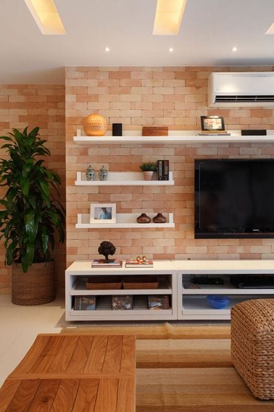 Living room decor ideas around tv set