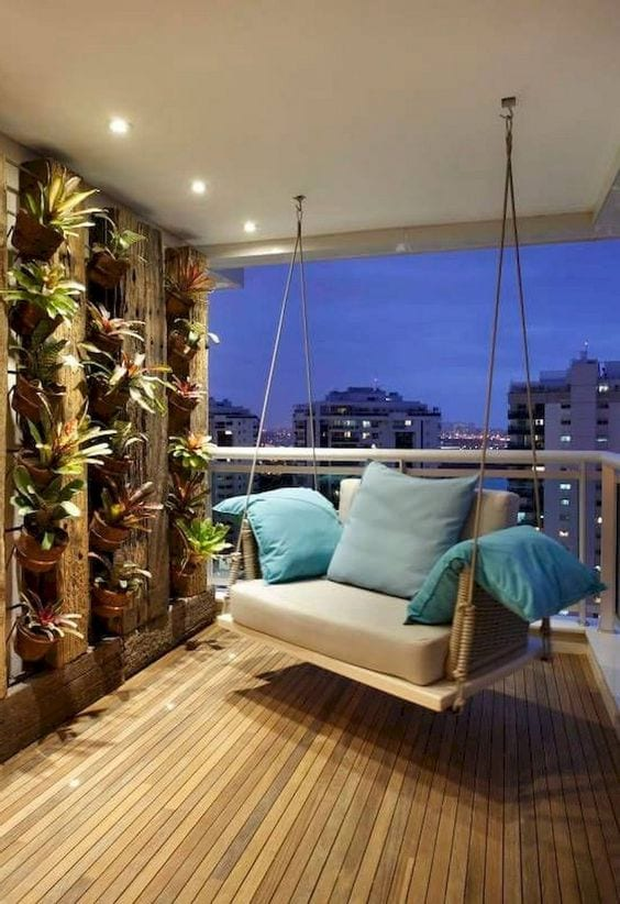 Luxurious Swing In Balcony Ideas
