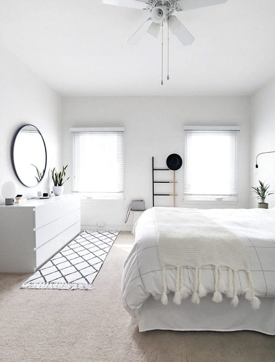 Modern White Small Bedroom Designs