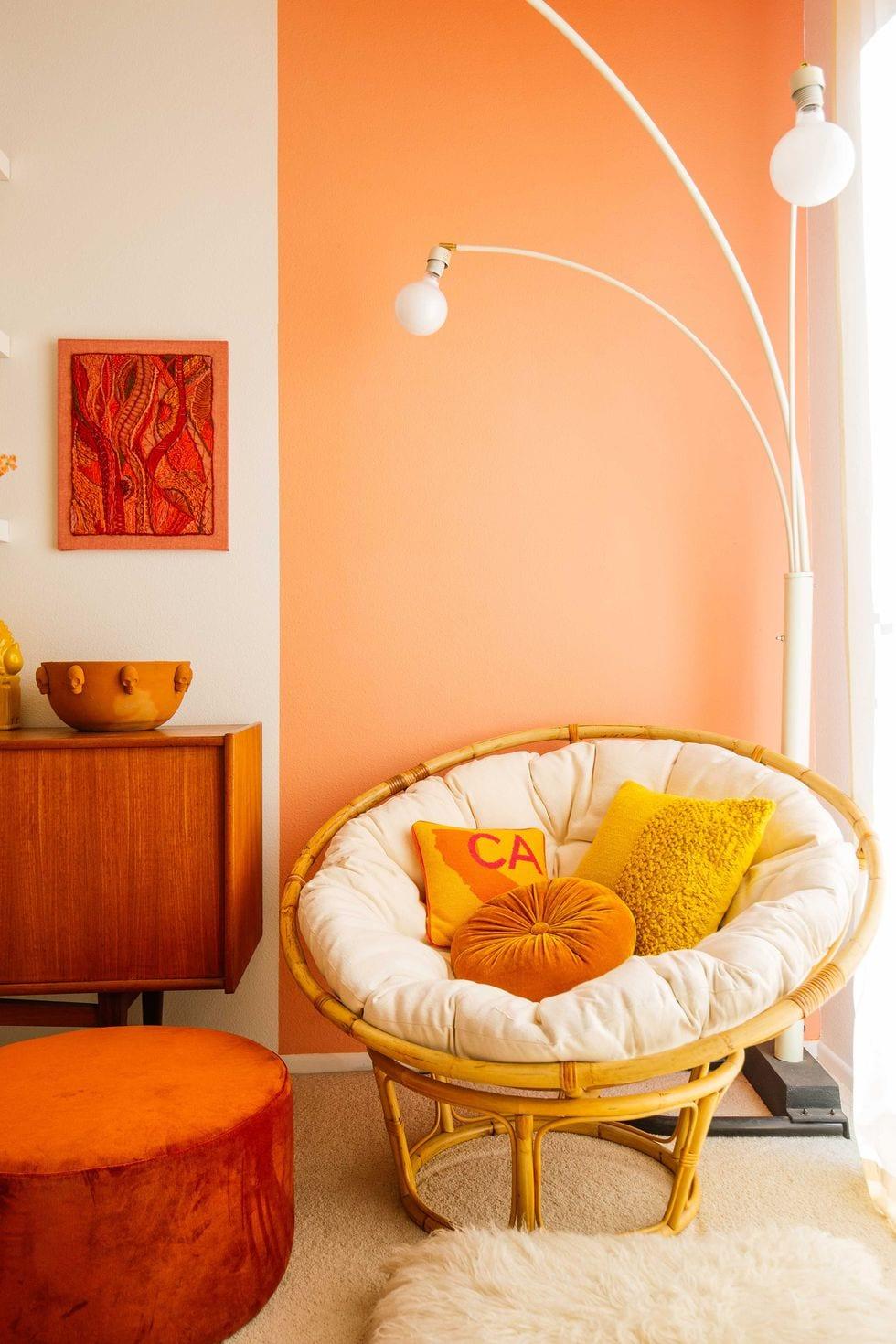 Peach living room paint color ideas