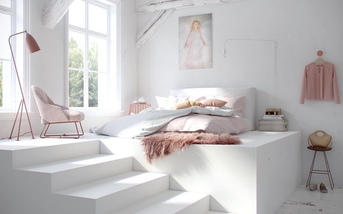 Pink And White Cozy Bedroom Ideas