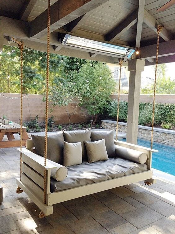 Pretty Swing In Balcony Ideas