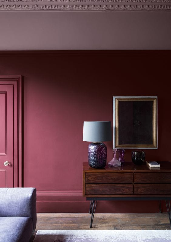 Red living room paint color ideas