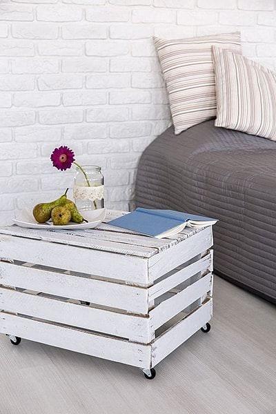 Rolling Wooden Nightstand Design Ideas For Bedroom
