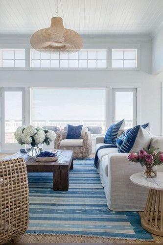 Seaside living room decor ideas