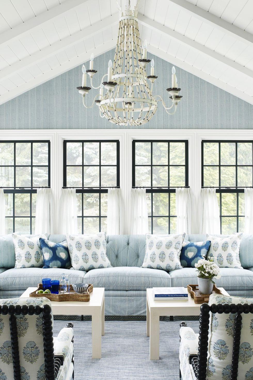 Sky Blue living room paint color ideas