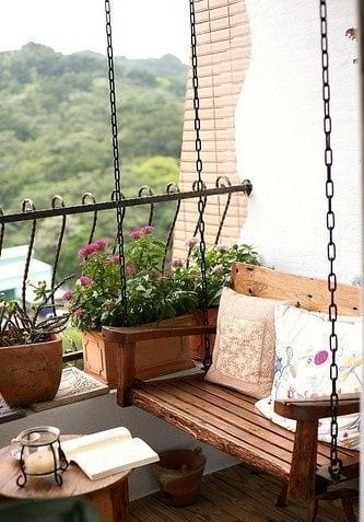 Swing In Balcony Design Ideas